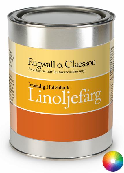 Innvendig brekk halvblank linoljemaling Engwall o Claesson